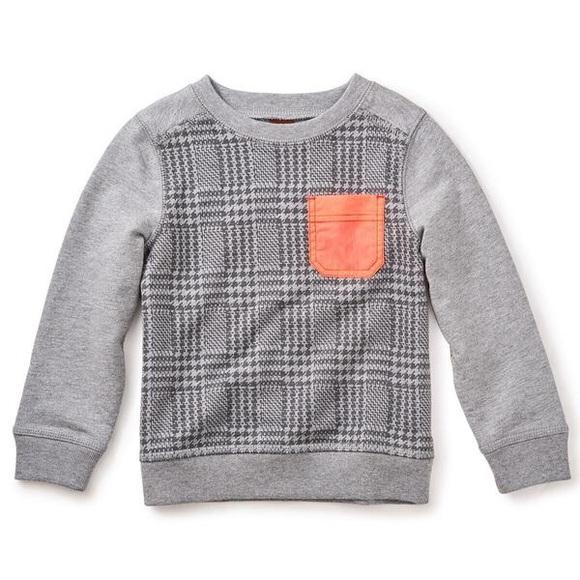 a89fb17bf402 NWT Tea Collection Grey Plaid Pullover Sweatshirt